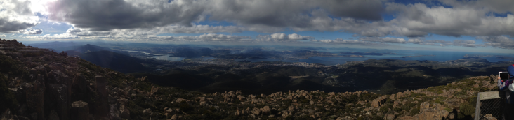 Panorama from the top of Mt Wellington