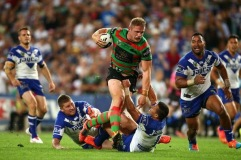 In what was to become a turning point for the game, George Burgess stampedes over the defence to score a try.
