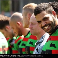 Australian international and Souths fullback, Greg Inglis, with an evil grin.