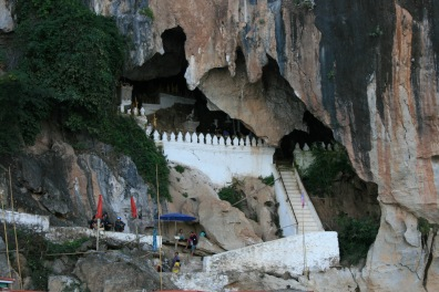 The entrance to the Pak Ou Caves
