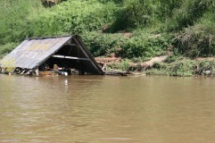 Boat sheds on the Mekong