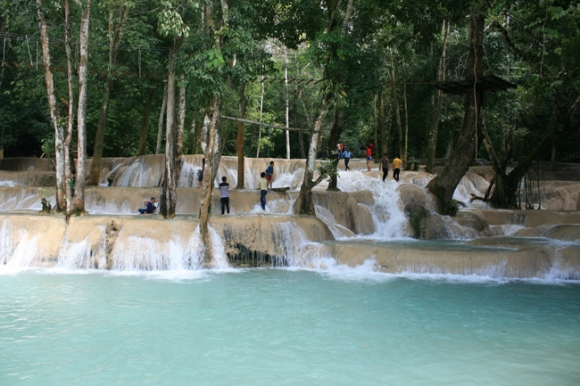 Khouangxi Waterfalls In Luang Prabang