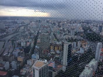 Rain over the city