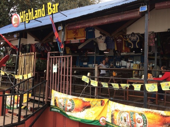 Highland Bar, Vientiane, overlooking the Mekong River