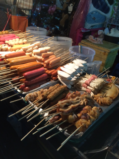 You can have anything you like so lonh as it is skewered