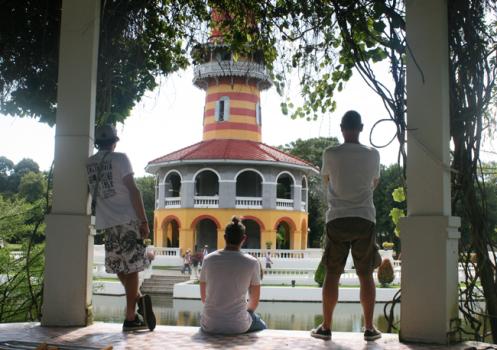 Dan, Andy and I contemplating climbing Ho Withun Thasana.