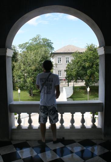 Daniel being thoughtful at Bang Pa In Palace