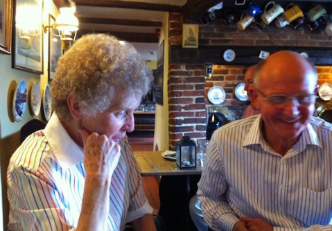 My folks enjoying lunch at the Ship Inn
