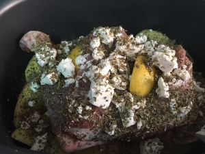 Greek slow roasted Goat