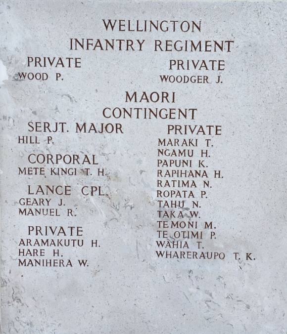 Wellington Infantry Regiment Maori Contingent