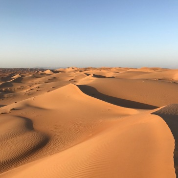 Sand dunes before sunset