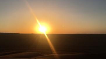 Sunset Oman desert